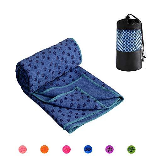 HAPPYX Yoga Handtuch rutschfest & Schnelltrocknend Yogatuch-Auflage 72 x 25 inch (183 x 63 cm) für Yogamatte