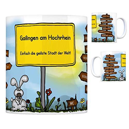 trendaffe - Gailingen am Hochrhein - Einfach die geilste Stadt der Welt Kaffeebecher