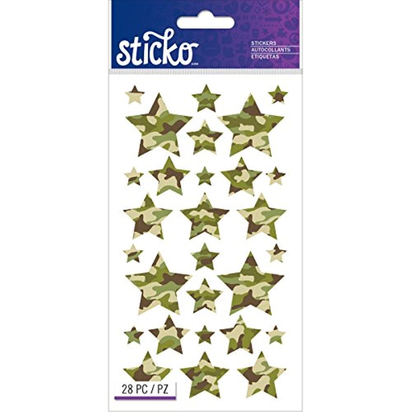 EK Success Camo Stars Stickers, Multi