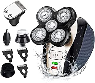 Electric Razor for Men, 5 in 1 Hair Razor for a Perfect Bald Look, Waterproof Faster-Charging Electric Shaver & Grooming K...