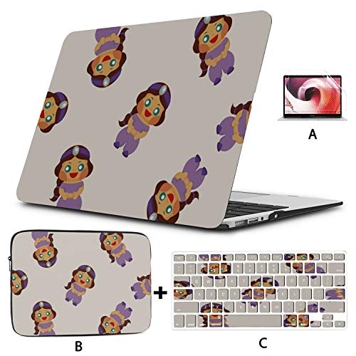 Macbook Pro Hard Cover Colorful Beautiful Girl Nightdress Laptop Covers Hard Shell Mac Air 11'/13' Pro 13'/15'/16' With Notebook Sleeve Bag For Macbook 2008-2020 Version