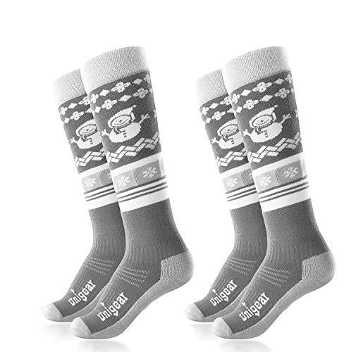 Unigear Kids Ski Socks, Merino Wool Warm and Soft Winter Socks, Over The Calf, Skiing Snowboarding Biking for Boys and Girls
