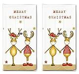20 Taschentücher Zwei Weihnachtsfreunde als Geschenk für Weihnachten