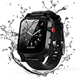 Apple Watch Series 3 and 2 Case Waterproof, iWatch Series 3 and 2 Case Apple Watch Bands Case Shockproof Dus tproof Rugged Full Protection Case (Black 38mm)