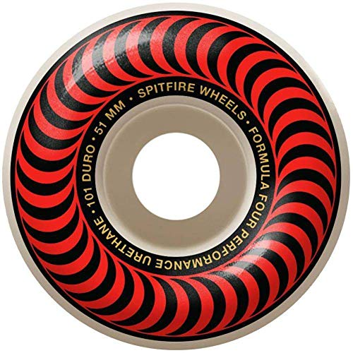 Spitfire Skateboard Rolle Classics 101-51Mm Rot (One Size, Rot)