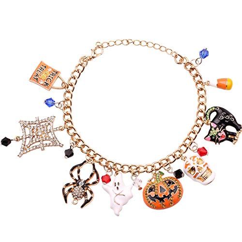 Eternitry Pulsera de Navidad de Halloween, pulsera de abalorios, pulsera de combinación de goteo de aleación para regalo de joyería de señora