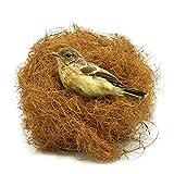 Seaokais 2.1 oz. Coconut Fiber Bird Hut Natural Fibers for Birds Coconut Nesting Materials for Bird Nest Small Animals