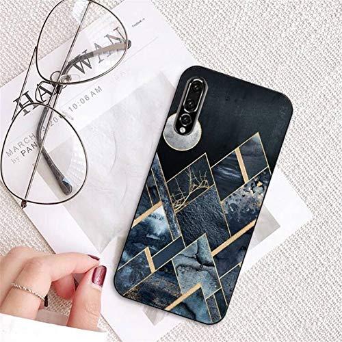 TYFYBH Funda Brillante Mármol Piedra De Granito Cubierta De Lujo De La Textura Caja del Teléfono For for for Huawei P9 Negro Suave Accesorios For Teléfonos Móviles Case