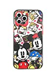 Max-ABC Compatible with iPhone 12 Pro Max Case Boys Girls Kids Cute Cartoon Minnie Mickey Mouse Character Slim Soft TPU Clear Protective Case Cover for iPhone 12 Pro Max 6.7''