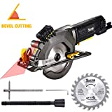 "TECCPO Circular Saw, 4-1/2"" 3500 RPM 4 Amp Compact Circular Saw with..."