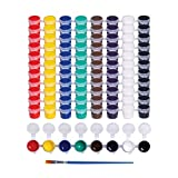 Washable Paint Set for Kids Arts and Crafts Projects - Bulk Set of 12 Non-Toxic Washable Paint Sets - Perfect for Home, Classroom and Birthday or Art Party - Includes 12 Filled Paint Strips with 8 Vivid Mixable Colors and 12 Premium Paintbrushes