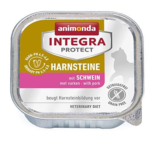 animonda Integra Protect Harnsteine, Spezial-Katzenfutter, Nassfutter zur Vorbeugung eines Harnweginfekts, mit Schwein , 16 x 100 g