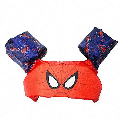 QYS Schwimmweste für Kinder, Armbänder Baby Kleinkind Schwimmhilfen zum Schwimmenlernen für 2-6 Jährige, 10-30kg,Spiderman
