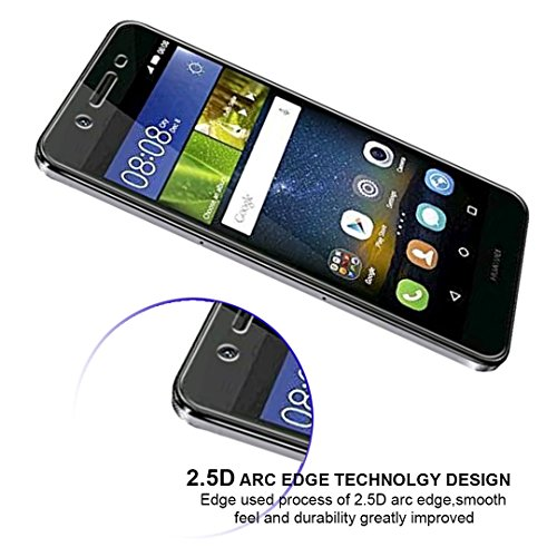 iVoler [2 Stücke] Huawei P8 Lite Smart Panzerglas Schutzfolie [9H Härte] [Anti- Kratzer] [Bläschenfrei] [2.5D Runde Kante] - 5