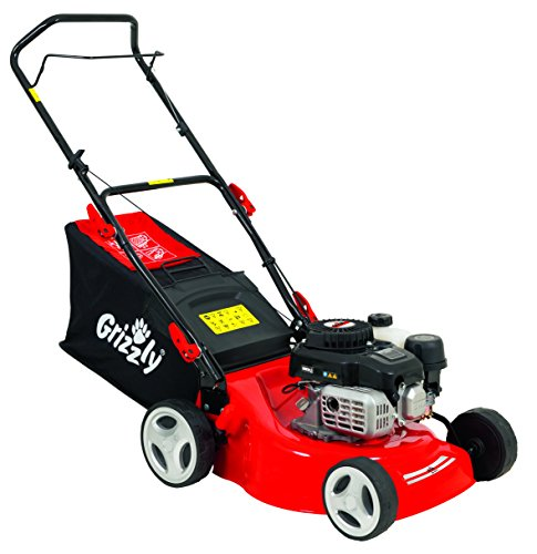 Grizzly petrol lawn mower BRM 4210-20 1.6 kW 2.1 HP 42 cm cutting width steel housing 5 fold height adjustment