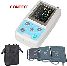 CONTEC ABPM50 Handheld 24hours Ambulatory Blood Pressure Monitor with PC Software for Continuous Monitoring NIBP USB Port with Three Cuffs