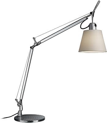 Artemide Tolomeo Basculante lámpara de mesa, E27, 70watts, aluminio/pergamino