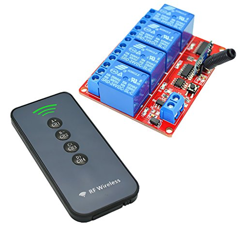 IPOTCH Mando a Distancia Inalámbrico Ultrafino de 4 Teclas para LED RGB