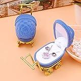 LYPYY Moda 1 UNIDS Elegante Velvet Stroller Ring Box Organizador de Joyas Case Holder Display Storage Box Gift Display Display Electrodomésticos, Azul