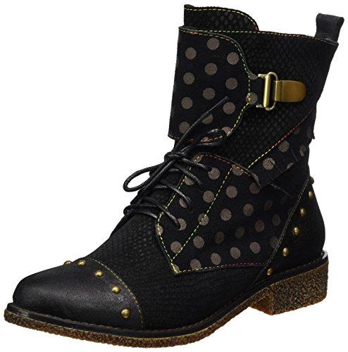 Laura Vita CORALIE 02, Rangers boots Femme, Noir, 37 EU
