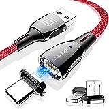 Cable de Carga Magnético USB 3 en 1, CAFELE 5A Multi Cable de Carga y Sincronización Datos magnético Trenzado de Nylon con Micro USB Tipo C y led para 1Phone, Samsung Galaxy, Huawei, Oneplus