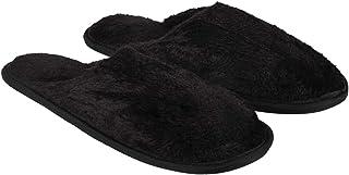 Old Cobbler Men's Black Slipper - Standard (Free Size)