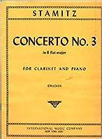 シュターミッツ: クラリネット協奏曲 第3番 変ロ長調/ドラッガー編/インターナショナル・ミュージック社/クラリネットとピアノ