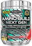 MuscleTech Amino Build Next Gen Energy Supplement, Formulated with BCAA Amino Acids, Betaine, Vitamin B12 & B6 for Muscle Strength & Endurance, Icy Rocket Freeze, 30 Servings (282g)