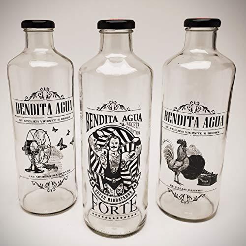 Botellas De Agua Cristal Nevera Marca BOTELLAS DE CRISTAL