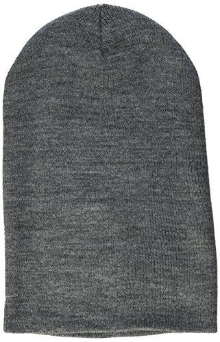 MSTRDS Bonnet Unisexe Basic Flap Version Longue. Taille Unique Gris chiné