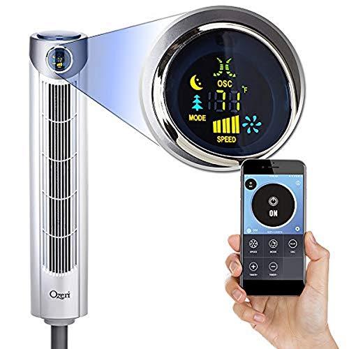 """Ozeri Ultra 42"""" Oscillating, Bluetooth Tower Fan, Tall"""