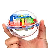 3D Puzzle Ball, 3D Interactive Maze Game with 30 Challenging Barriers Education 3D Labyrinth Ball for Kids 3D Puzzle Toys Magical Maze Ball Brain Teasers Puzzle Games,Random Color