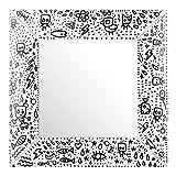 Specchio B.Simo Limited Edition bianco, 64,5x64,5 cm Multicolore