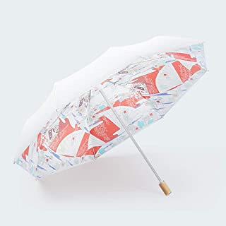 Folding Umbrella Female Sun Rain Dual-use Hoist Navy Embroidery Lace QXX-umbrella Sun Umbrella Sun Protection UV UPF50