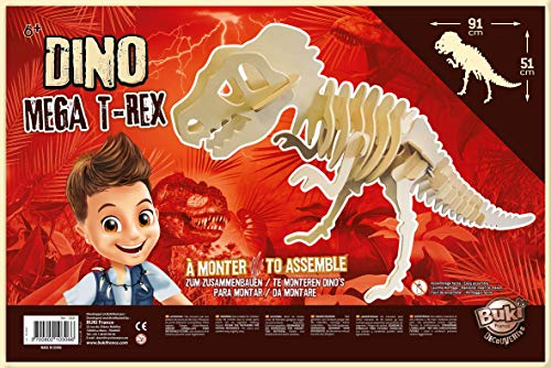 Buki- Dino T-Rex Géant à Assembler, D6M