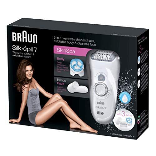 Braun Silk-épil 7 SkinSpa 7-939e 40tweezers Blanco - Depiladora (40 min, 1 h, 637 g, 70 mm, 260 mm, 197 mm)