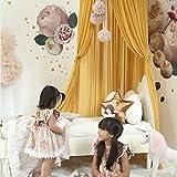 K9CK Betthimmel, Baby Baldachin Betthimmel Kinder Babys Bett aus Chiffon Insektennetz Deko Moskitonetz für Kinderbett - Gelb - 6