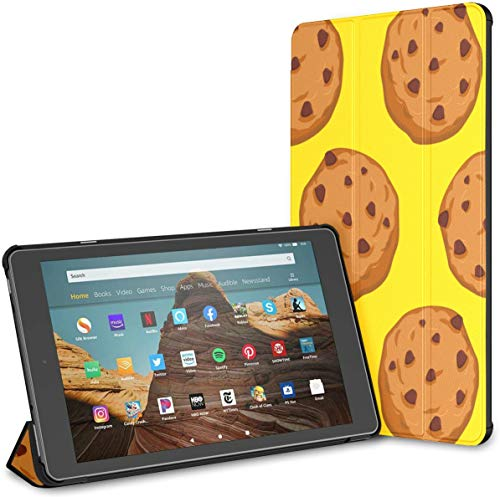 Case for All-New Amazon Fire Hd 10 Tablet (7th and 9th Generation,2017/2019 Release),Slim Folding Stand Cover with Auto Wake/Sleep for 10.1 Inch Tablet, Cookies Pattern Pastry Food