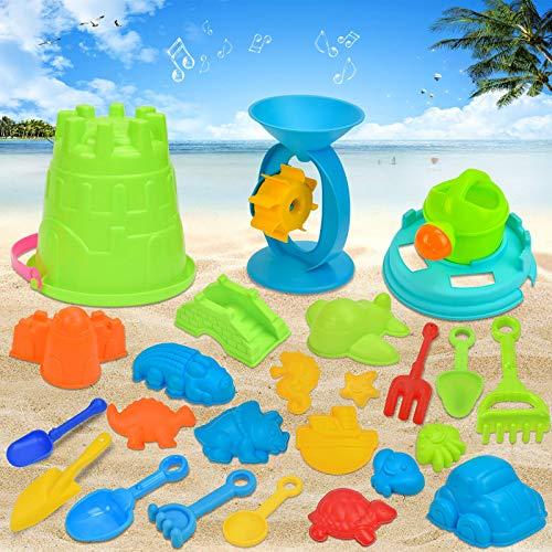 Giocattoli da Spiaggia per Bambini, Giocattoli da Spiaggia Giocattoli Set Giochi Sabbia per Bambini,giocattoli di sabbia a rete, adatti per far giocare i bambini all'aperto sulla spiaggia (25PCS)