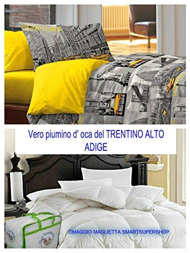 Black Friday Angebot für wenige Tage. Das echte Daunen D 'Gänse des Trentino Doppelbett Made in Italy cirano Haus von smartsupershop + Bettbezug Doppelbett New York