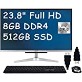 Acer Aspire 24 2020 Premium All-in-One Desktop I 23.8' Full HD Display I Intel Core i3-1005G1 I 8GB DDR4 512GB PCIe SSD I HD Webcam WiFi Wireless Keyboard and Mouse Win 10 + Delca HDMI Cable