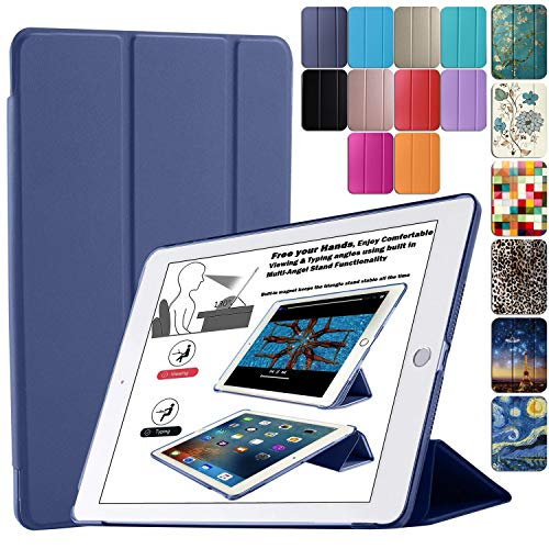 DuraSafe Cases for iPad 4 / iPad 3 / iPad 2-9.7 Inch Slimline Series Lightweight Protective Cover with Dual Angle Stand & Froasted PC Back Shell - Navy Blue