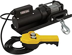Ironton 120 Volt AC Powered Electric Utility Winch - 1,500-Lb. Capacity, Galvanized Steel Aircraft Wire Rope