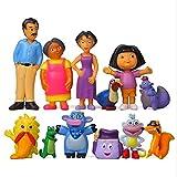 12 unids Anime Dora The Explorer PVC Colección de modelo de PVC Navidad Toys Figure Toys para niños Anime Figura 3 a 7 cm