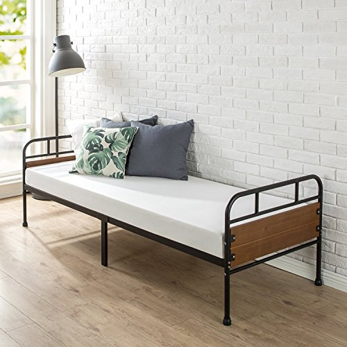 Zinus Eli 30 Inch Wide Daybed Frame with Mattress Set