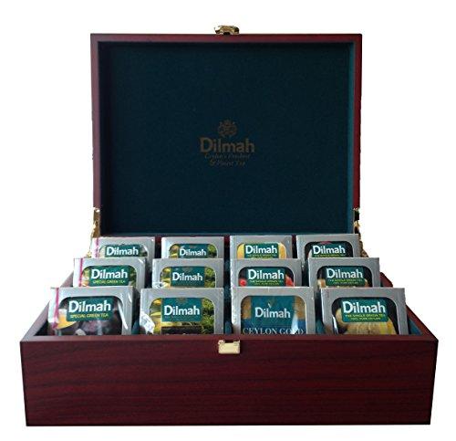 Dilmah | Luxury Wooden Presenter | Tea Display Chest | 120 Enveloped teabags Included (Gourmet 12 slot)
