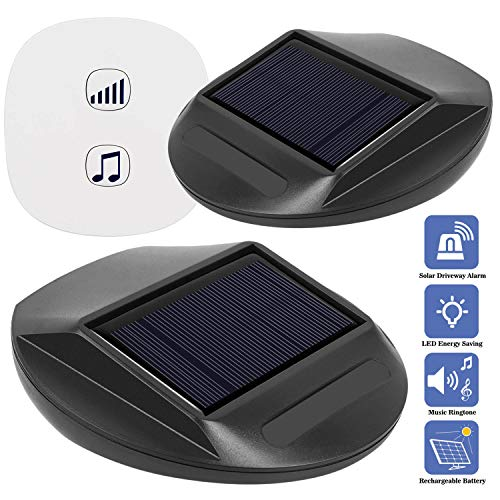 For Sale! Seanme Solar Motion Sensor Alarm,Solar Lights, Wireless Driveway Alarm, Outdoor,Indoor Wea...