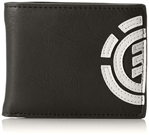 Element Herren Daily Wallet Geldbörse, Schwarz (Flint Black), 1x7x9 cm