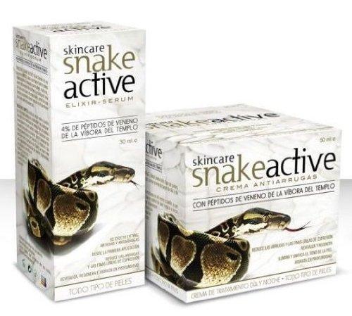 SET Schlangengift 2 in 1 Tages und Nachtpflege 50 ml Gesichtscreme+30 ml Serum Anti Aging Snake Cream