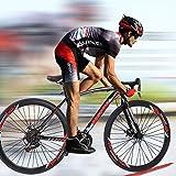 Road Bikes, 21 Speed Road Bike 700C Wheels Road Bicycle, Mechanical Disc Brake Bicycles